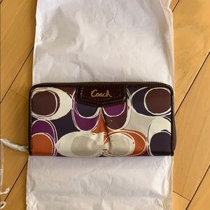 Authentic NWT Coach multi-colored wallet